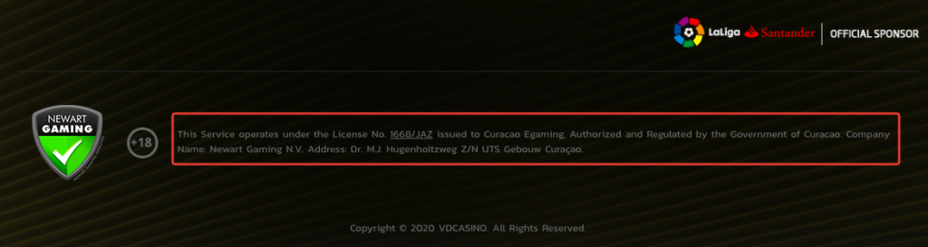 VDCasino, casino lisansı ile yayın yapan bir sitedir.